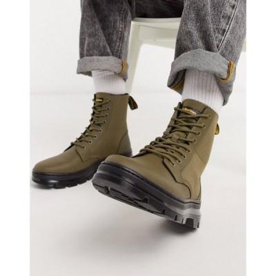 ドクターマーチン Dr Martens メンズ ブーツ シューズ・靴 Combs 8 Eye Boots in Khaki グリーン