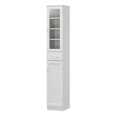 食器棚 スリム キッチン収納 ダイニングボード キッチンボード ガラス扉 セシルナ CEC- 1830 DGH (玄関先お渡し お客様組立商品)