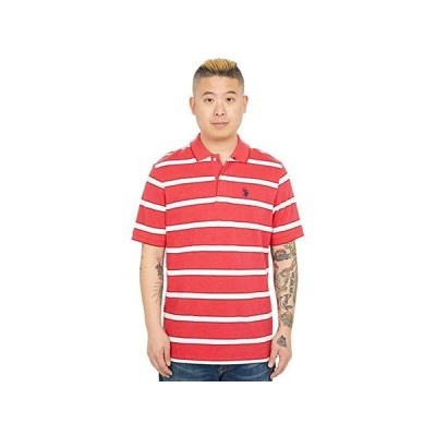 U.S. POLO ASSN. Striped Pique Polo メンズ シャツ トップス Nantucket Red Heather