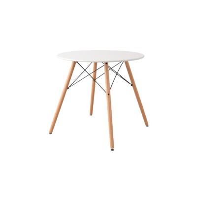 オペレ ダイニングテーブル ラウンドテーブル ホワイト 白 アジャスター付き インテリア 机 食卓 丸テーブル シンプル ミッドセンチュリー おしゃれ