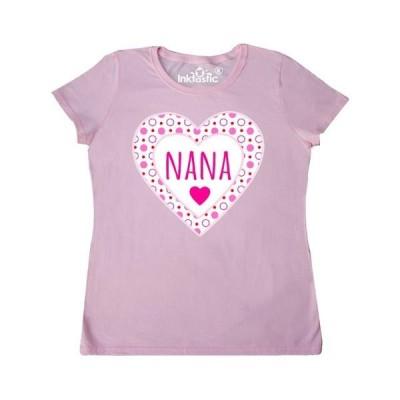 レディース 衣類 トップス Nana Pink Valentine Hearts Women's T-Shirt Tシャツ