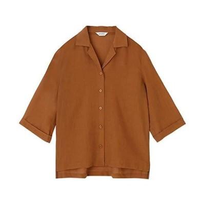 マウジー シャツ ブラウス SHEER HALF SLEEVE SHIRT 010DSH30-0970 レディース FREE ブラウン