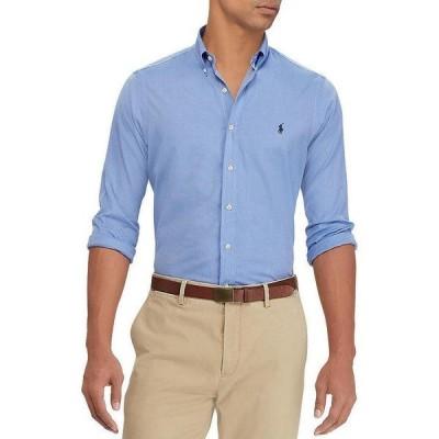 ラルフローレン メンズ シャツ トップス Classic-Fit End On End Poplin Stretch Long-Sleeve Woven Shirt Blue End On End
