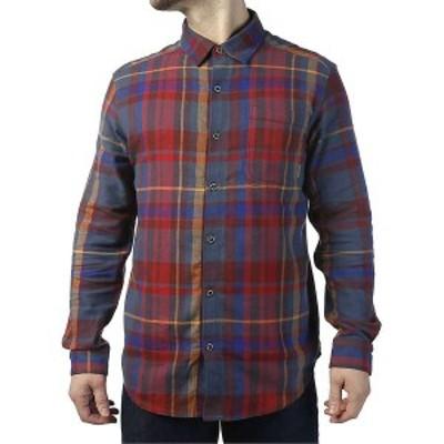 コロンビア メンズ シャツ トップス Columbia Men's Boulder Ridge LS Flannel Shirt Dark Mountain Large Plaid