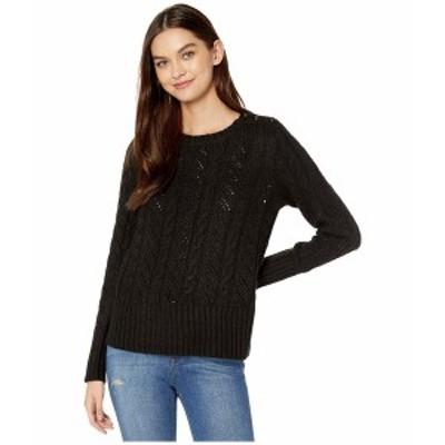 ケンジー レディース ニット&セーター アウター Punk Yarn Sweater with Shoulder Button Detail KSNK5942 Black