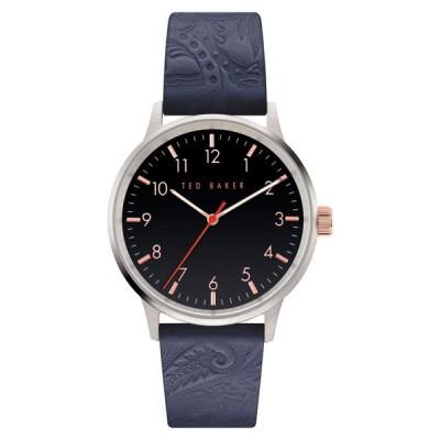 テッドベーカー TED BAKER LONDON メンズ 腕時計 Cosmop Leather Strap Watch, 40mm Blue/Silver