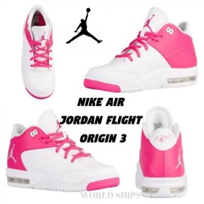 エア ジョーダン ナイキ スニーカー Nike Air Jordan Flight Origin 3 ホワイト/ピンク【海外限定・正規