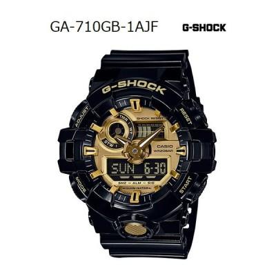 G-SHOCK Gショック ジーショック カシオ CASIO アナデジ 腕時計 ブラック ゴールド GA-710GB-1AJF 国内正規モデル