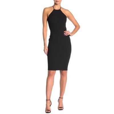ジャンプ レディース ワンピース トップス Halter Neck Strappy Back Bodycon Dress BLACK