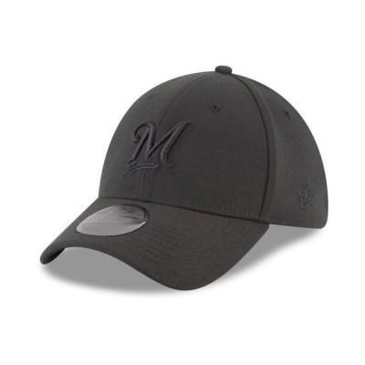 ニューエラ メンズ 帽子 アクセサリー Milwaukee Brewers Blackout 39THIRTY Cap
