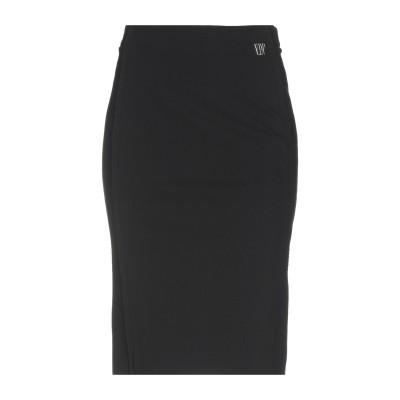 VDP COLLECTION ひざ丈スカート ブラック 44 レーヨン 63% / ナイロン 26% / ポリウレタン 11% ひざ丈スカート