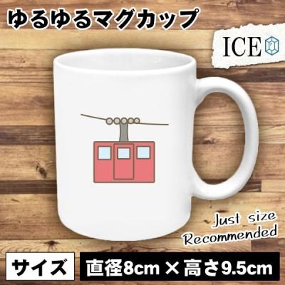 ロープウェイ ゴンドラ おもしろ マグカップ コップ 陶器 可愛い かわいい 白 シンプル かわいい カッコイイ シュール 面白い ジョーク ゆるい プレゼント プレ