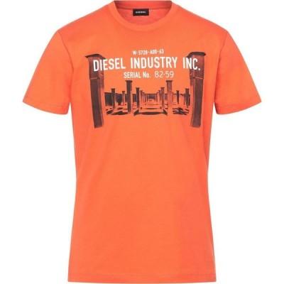 ディーゼル DIESEL メンズ Tシャツ トップス T-Shirt Orange