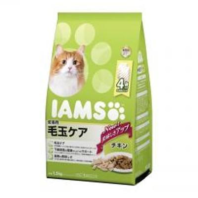 アイムス IAMS 成猫用 毛玉ケア チキン 1.5kg ■ キャットフード ドライ アダルト 猫 ねこ ネコ ヘアボール