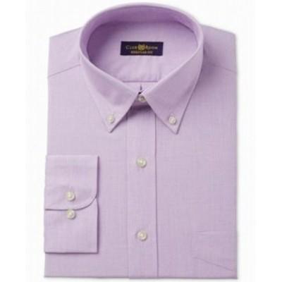 Pocket  ファッション ドレス Club Room Mens Purple Size 16 Pocket Regular Fit Dress Shirt