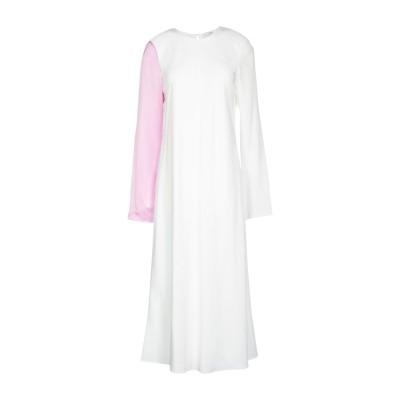 ティビ TIBI 7分丈ワンピース・ドレス ホワイト 0 シルク 100% 7分丈ワンピース・ドレス