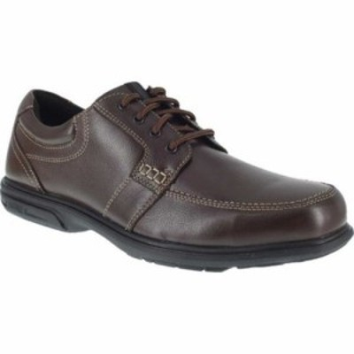 フローシャイム スリッポン・フラット FE2022 Loedin Steel Toe Slip-On EH Work Shoe Brown Leather