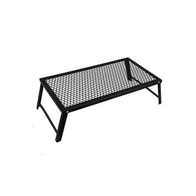 NOCNEX メッシュテーブル アウトドア テーブル 焚き火テーブル クッカースタンド 折りたたみ 55×30cm ブラック
