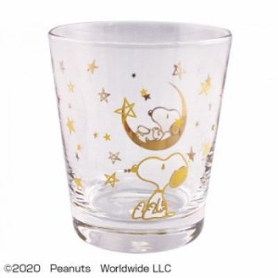 PEANUTS SNOOPY(スヌーピー) GLASS STAR GOLD PA-800 グラス
