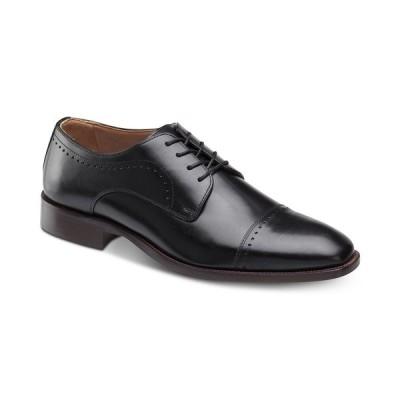 ジョンストンアンドマーフィー オックスフォード シューズ メンズ Men's Sanborn Cap-Toe Lace-Up Oxfords Black