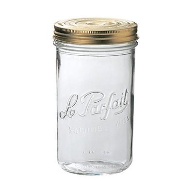 保存容器 ガラス :ル・パルフェ 922940 ダブルキャップジャー 1000cc Φ9.5cm x h18cm/1入 YA