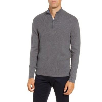 ザッカリープレル メンズ ニット&セーター アウター Higgins Quarter Zip Sweater PEWTER