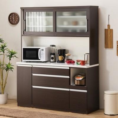 食器棚(レジューム 150TG-S DBR/150SL-R DBR) ニトリ 『配送員設置』 『5年保証』