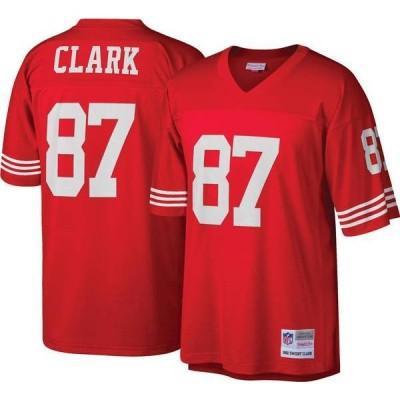 ミッチェル&ネス メンズ シャツ トップス Mitchell & Ness Men's San Francisco 49ers Dwight Clark #87 Red 1982 Home Jersey