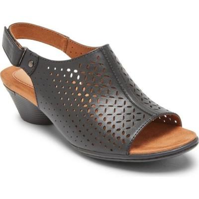 ロックポート ROCKPORT COBB HILL レディース サンダル・ミュール シューズ・靴 Laurel Slingback Sandal Black Leather