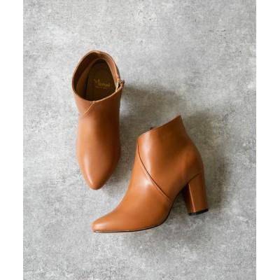 welleg from outletshoes / ポインテッドトゥ チャンキーヒール ブーティ WOMEN シューズ > ブーツ