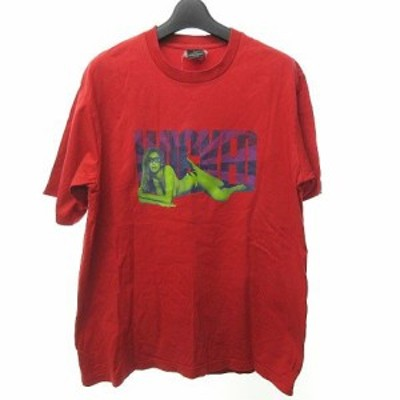 【中古】ナイトレイド NITRAID Tシャツ カットソー 半袖 プリント レッド 赤 L 1214 メンズ