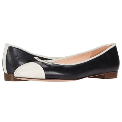 J.Crew Leather wu002F Toe Cap Uptown Ballet レディース フラットシューズ Black/Ivory