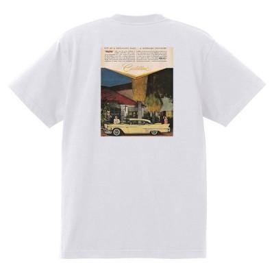 アドバタイジング キャデラック Tシャツ 白 970 黒地へ変更可 1958 オールディーズ ロック 1950's 1960's ロカビリー ローライダー