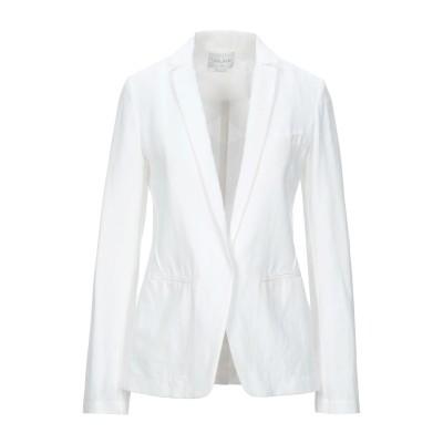 フォルテ フォルテ FORTE_FORTE テーラードジャケット ホワイト 3 コットン 58% / 麻 42% テーラードジャケット