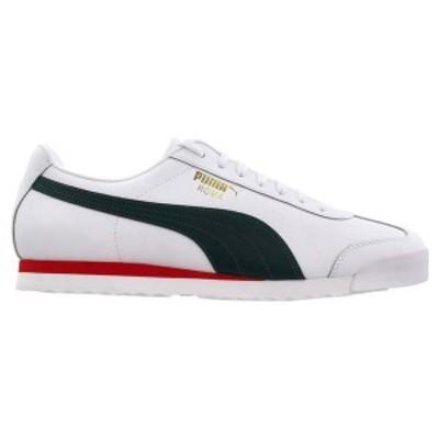 プーマ メンズ スニーカー シューズ Roma Classic VTG Lace Up Sneakers Puma White / Ponderosa