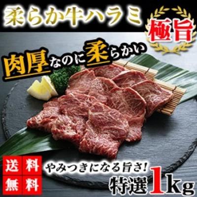 ハラミ 牛ハラミ 1kg 送料無料 やわらかハラミ 牛肉 肉 焼き肉 bbq バーベキュー グルメ