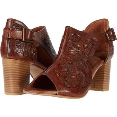 ローパー Roper レディース サンダル・ミュール シューズ・靴 Mika Closed Back Tan Floral Tooled Leather