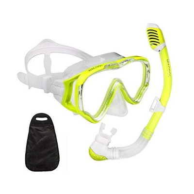 【新品】WACOOL Snorkeling Snorkel Package Set for Kids Youth Junior, Anti-Fog Coated Glass Diving Mask, Snorkel with Silicon Mouth Piece