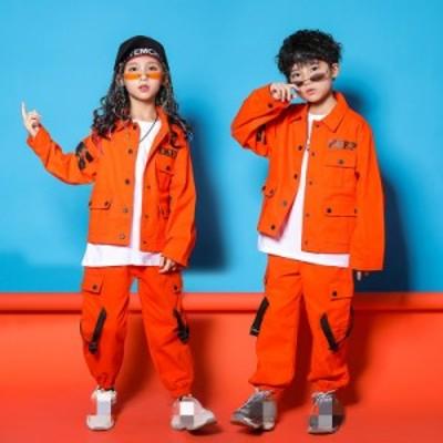 キッズ ダンス衣装 ヒップホップ 2点セット 男の子 女の子 ガールズ ジャズダンス ステージ衣装 練習着 演出服