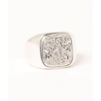 指輪 【blatto】925シルバー スクエア シグネットリング フリーサイズ