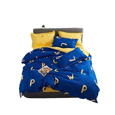 BeddingWish 敷き布団カバーセット ダブル4点セット 掛け布団カバーセット 敷き布団カバーセット 枕カバー 寝具カバーセット 柔ら