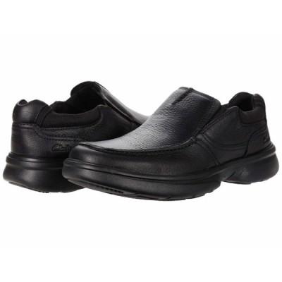 クラークス スリッポン・ローファー シューズ メンズ Bradley Free Black Tumbled Leather