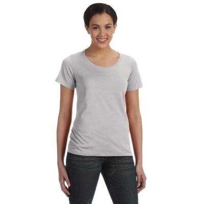 レディース 衣類 トップス Womens Sheer Scoop Neck T-Shirt Tシャツ