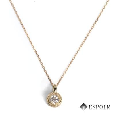 K18 ペンダントネックレス ダイヤモンド 40cm バースデー 4月 誕生石 レディース ネックレス K18刻印入り