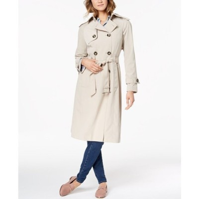 ロンドンフォグ コート アウター レディース Belted Double-Breasted Water-Resistant Trench Coat Stone