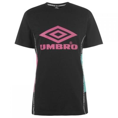 アンブロ Umbro メンズ Tシャツ トップス Horizon T Shirt Black/BerryPink