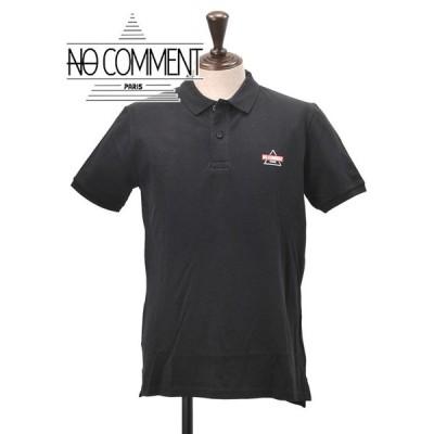 ノーコメント パリ NO COMMENT PARIS メンズ 鹿の子ポロシャツ 半袖 国内正規品 バックプリント ブラック golf girl ゴルフガール ブランド