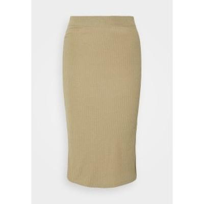 オンリー レディース スカート ボトムス ONLNELLA  SLIT SKIRT - Pencil skirt - toasted coconut toasted coconut