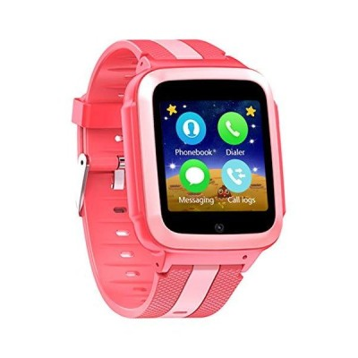 DanCoTek Smart Watch Unlocked 2G GSM Two Way Phone Call SOS Call Touchscreen Front Camera Games Learning Numbers (Rosy)