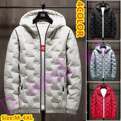中綿ジャケット ダウンコート メンズ 防寒ジャケット 中綿コート 軽めアウター ジャンパー 軽量 防寒 薄手 あったか 暖 ジャケット 大きいサイズ あたたか 冬服